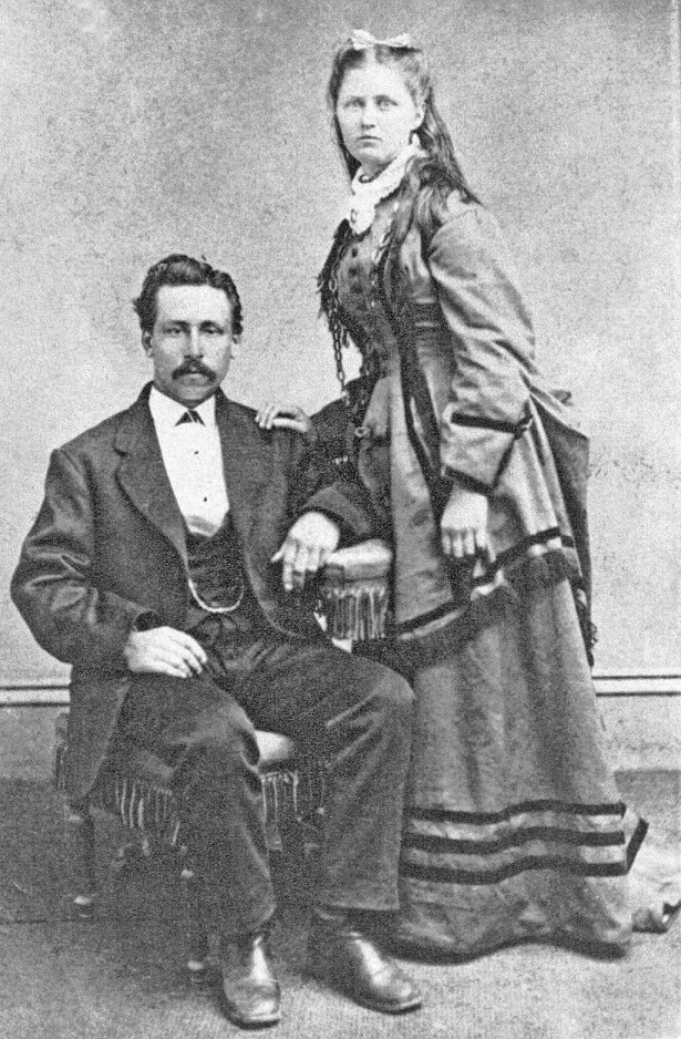 Young couple of the 1800 or 1900s